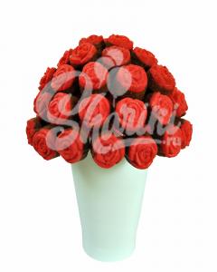 """Букет из кексов """"Красные розы"""""""