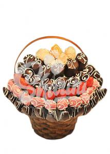 """Букет из фруктов в шоколаде """"Лакомка"""""""