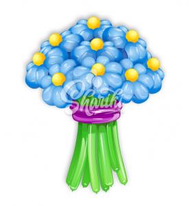 """Цветы из шаров """"Букет №11"""""""