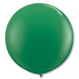 Большой шар на атласной ленте, Зеленый