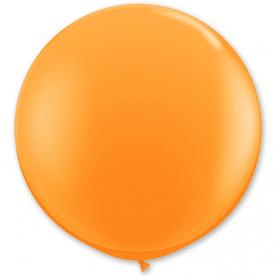 Большой шар на атласной ленте, Оранжевый