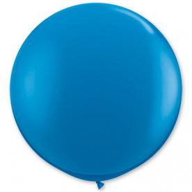 Большой шар на атласной ленте, Синий