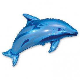 Шар фигура Дельфин голубой