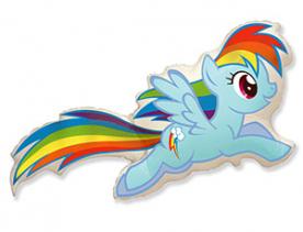 """Фигура пони голубая """"радуга"""""""