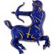 Шар Зодиак Стрелец золотой/синий