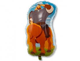 """Фигура фольга """"Илья на коне"""",три богатыря."""