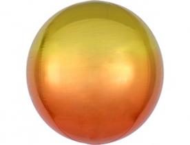 Шар 3D СФЕРА Омбре Желто-оранжевые