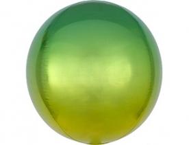 Шар 3D СФЕРА Омбре Желто-зеленый