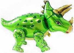 """Ходячая фигура """"Динозавр Трицераптос"""", зеленый"""