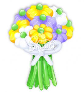 """Цветы из шаров """"Букет №16"""""""