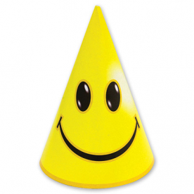 Колпак желтый Улыбка, 8 шт