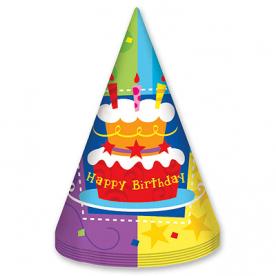 Колпак Торт Birthday 6шт