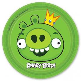 Тарелки Angry Birds, 17см, 8 штук