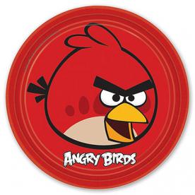 Тарелки Angry Birds, 23 см, 8 штук