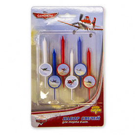 Свечи для торта Disney Самолеты, 6 штук