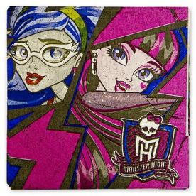 Салфетки Monster High,33 см,16 шт