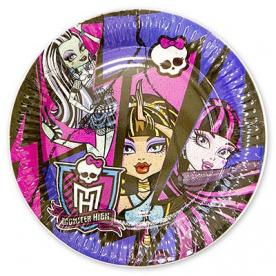 Тарелки малые Monster High,17 см,8 шт