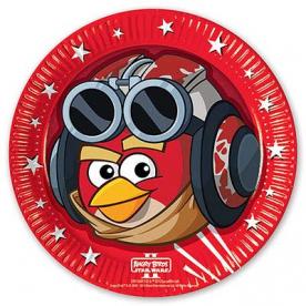 Тарелки Angry Birds STAR WARS, 8 штук
