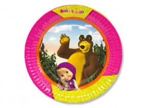 """Тарелки """"Маша и медведь"""",6 шт"""