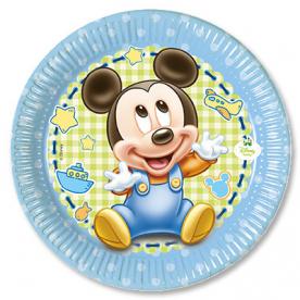Тарелки малые Малыш Микки, 8 штук
