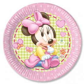 Тарелки большие Малышка Минни, 8 штук