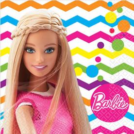 Салфетки малые Барби, 16 штук