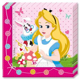 Салфетки Алиса в Стране Чудес, 20 штук