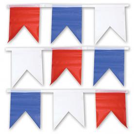 Гирлянда флаг бел/син/крас(1фл-1цв) 10м