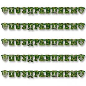 Гирлянда-буквы Поздравляем Камуфляж