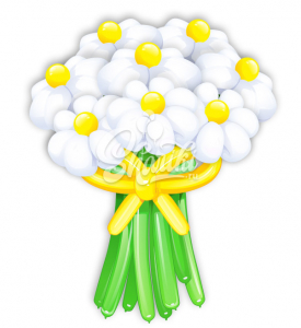 """Цветы из шаров """"Белые Ромашки"""""""