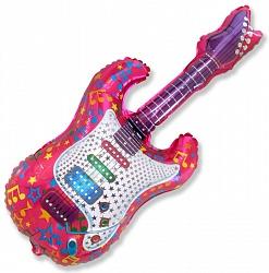 "Шар Фигура фольга ""Гитара 2"""
