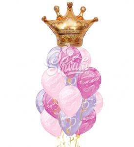 """Композиция из шаров """"Принцесса"""""""
