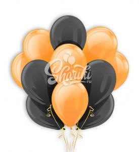 """Облако шаров """"Оранжевый и черный"""""""