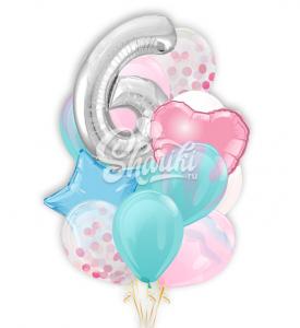 """Букет шаров """"Настоящий день рождения"""""""