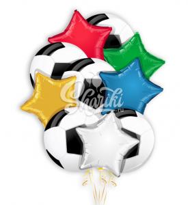"""Букет воздушных шаров """"Футболист"""""""