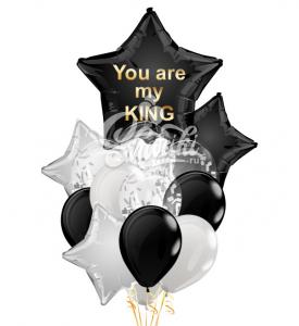 """Композиция шаров """"Ты мой Король"""""""