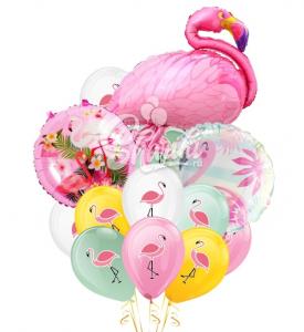"""Композиция из шаров """"Розовый фламинго"""""""