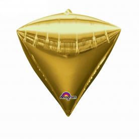 """Шар 3D Алмаз 17"""" Золото"""
