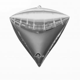 "Шар 3D Алмаз 17"" Серебро"