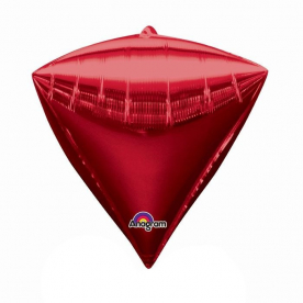 """Шар 3D Алмаз 17"""" Красный"""