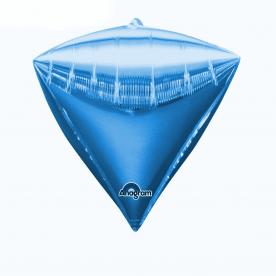 """Шар 3D Алмаз 17"""" Синий"""
