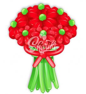 """Цветы из шаров """"Букет №21"""""""