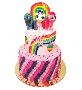 "Торт ""Милые пони"". Цена за 1 кг."