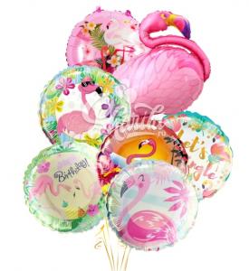 """Композиция из шаров """"Розовый фламинго-2"""""""