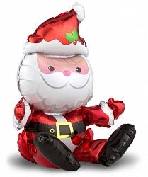 """Шар фигура фольга """"Сидячий Дед Мороз"""""""