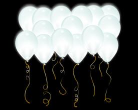 """Светящиеся шары с круглым диодом """"Белые"""""""