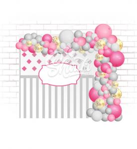 """Пена Арка из шаров """"Розовые мечты"""". Без каркаса. Цена за 1 метр"""