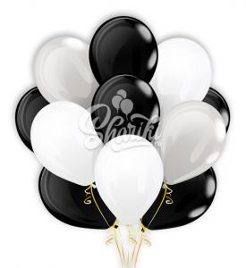"""Облако шаров """"Черно-белый сюрприз"""""""