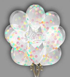 """Облако шаров с конфетти """"Воздушные эмоции"""""""