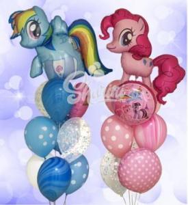 """Композиция из шаров """"Маленькие пони"""""""